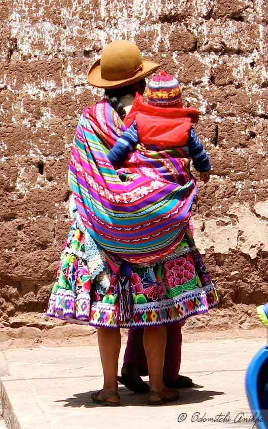 Peruvian Woman with baby